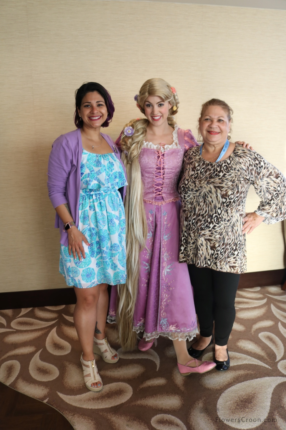 Hanging out with Rapunzel in the Concierge Lounge onboard the Disney Wonder
