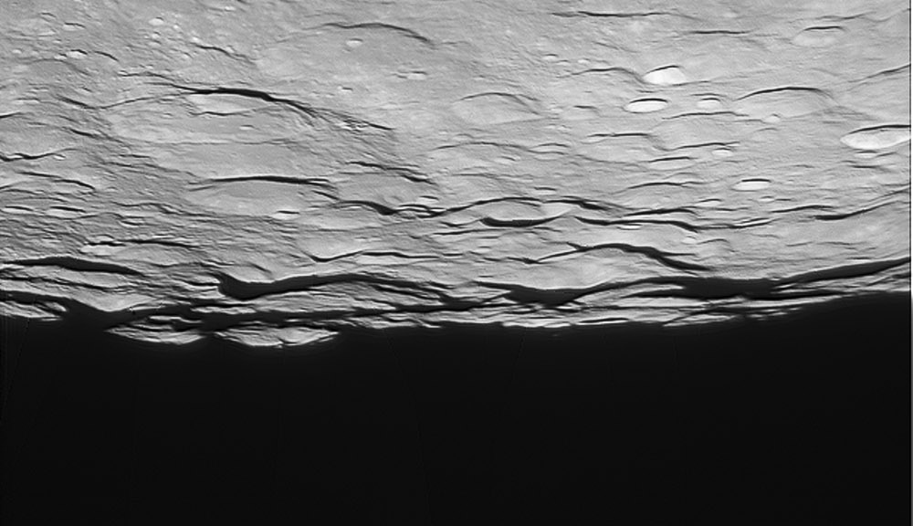 Lunar South Pole,  LPOD 9th April, 2012