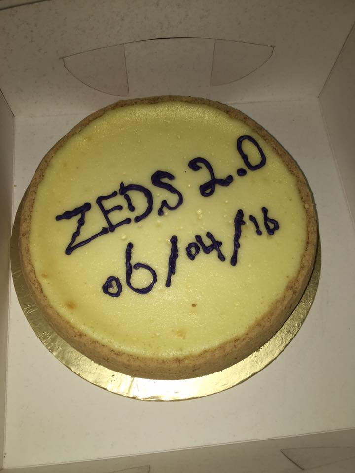 To celebrate the official inauguration of Zeds 2.0, Aamna Saleem brought this cosmic version of a cheesecake. Thank you, Aamna!