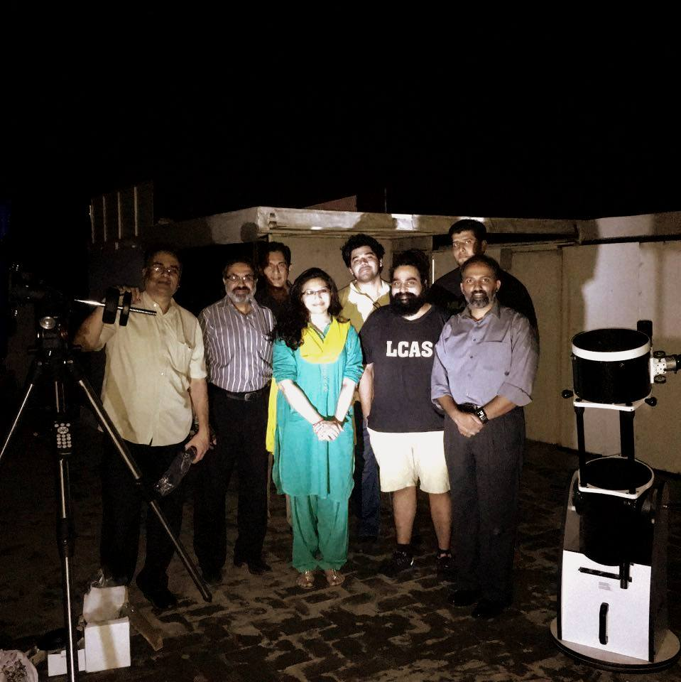 From left to right: Ahmed Mudassir Khan, Maroof Mian, Kaiser Tufail, Aamna Saleem, Roshaan Bukhari, Sameer R. Shami, Mian Mateen and Umair Asim.