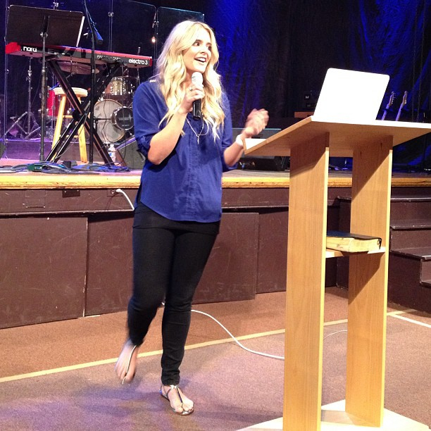 Kylie Jean sharing at emanate.