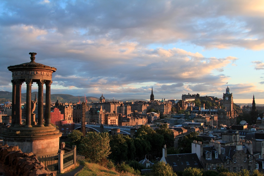 Edinburgh at sunset. Yes, this is where I used to live.