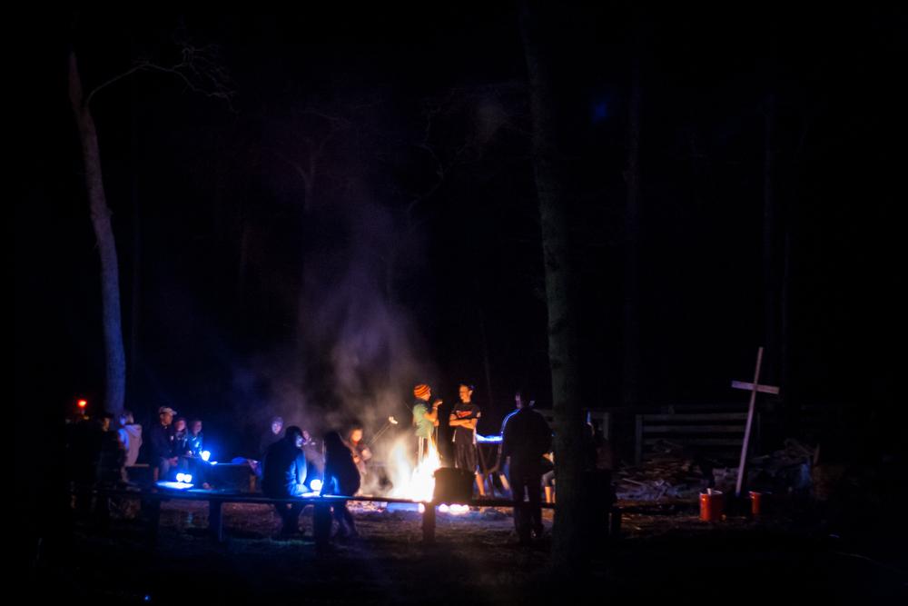 Nightly fire circle