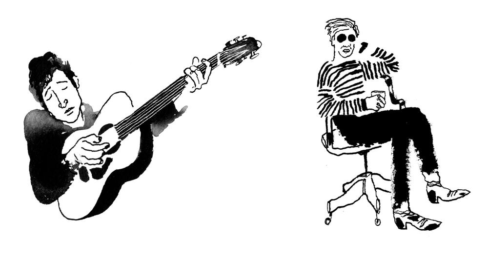 Bob Dylan and Andy Warhol