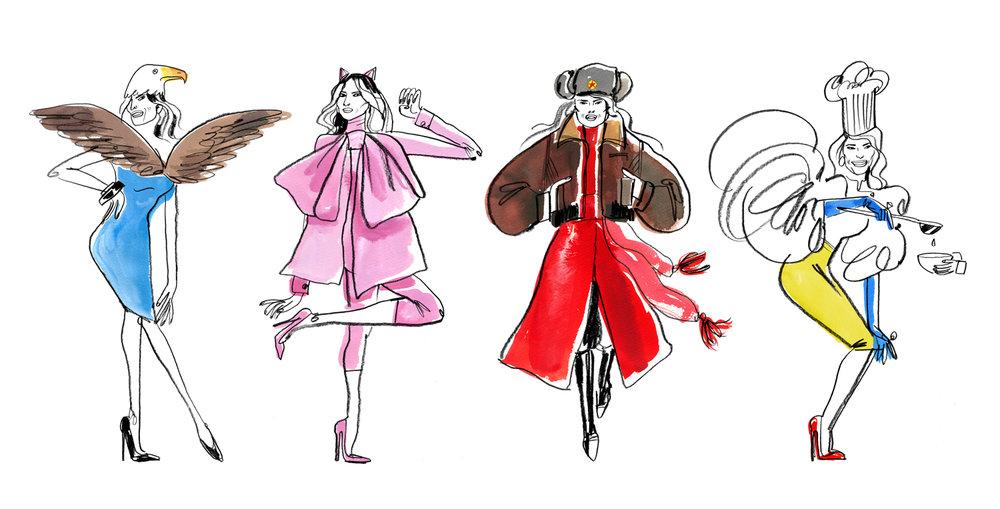 Melania's Imagined Fashion Line