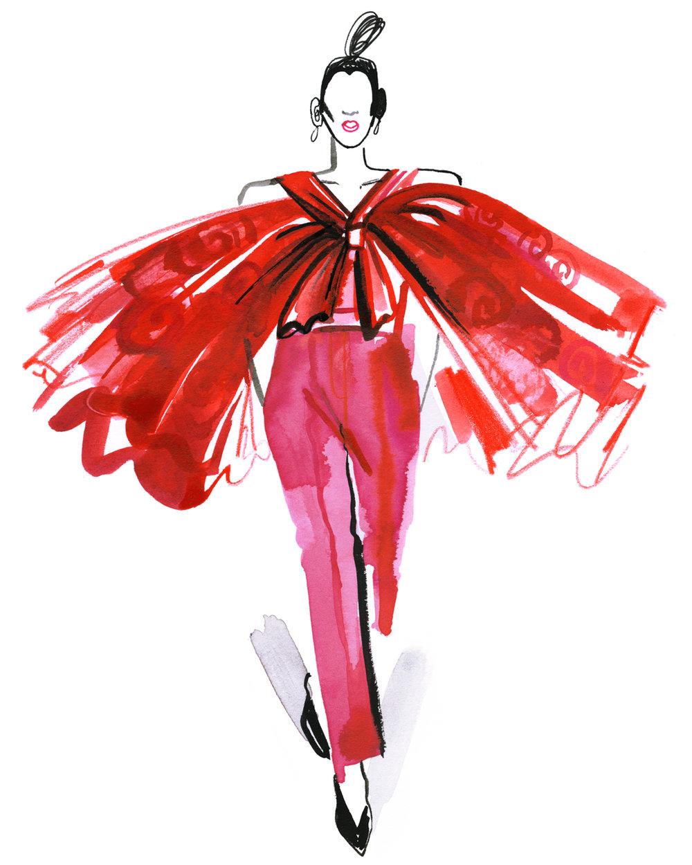 Mulan Inspired Red Carpet Look