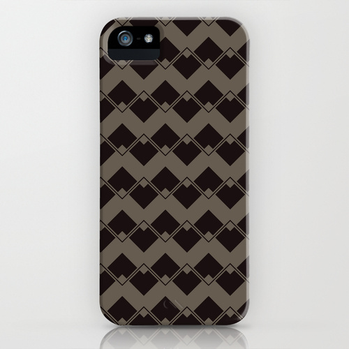 Taupe Geometric Art Deco Chevron Pattern