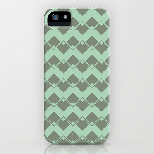 Mint Geometric Art Deco Chevron Pattern