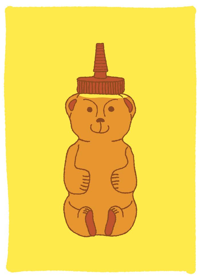 Honey Bear Honey Bear Illustration
