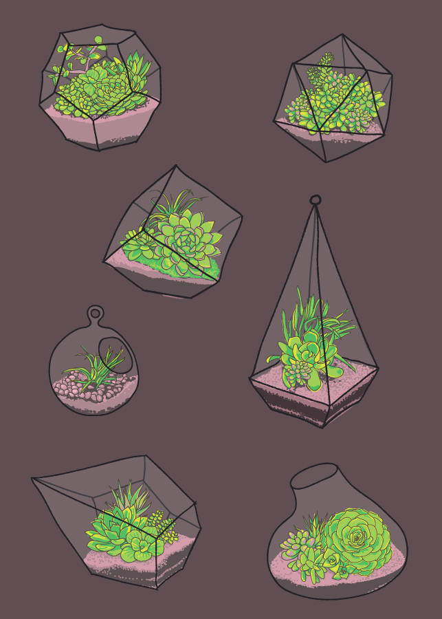 Terrariums   •    Prints are available in my Society 6   shop  .