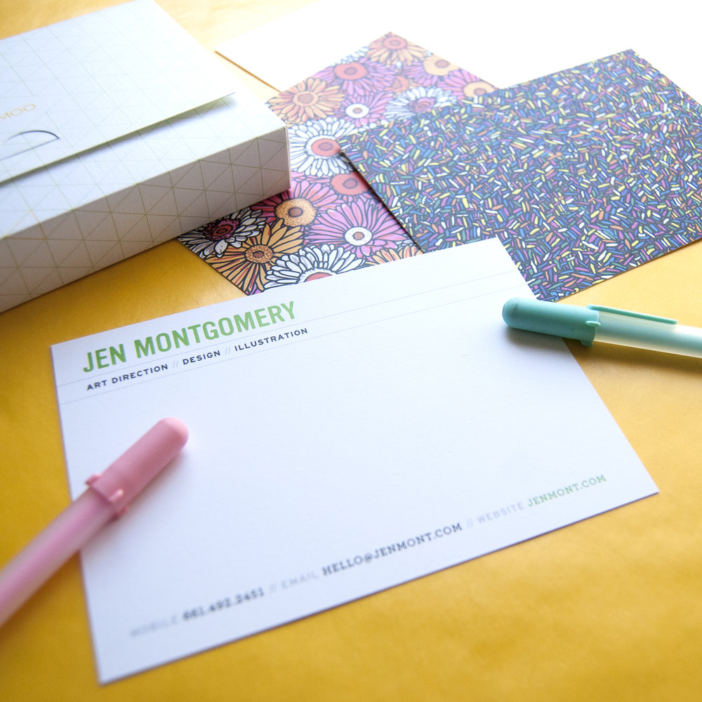 New business cards and notecards from moo jen montgomery art i am excited to use these note cards to send handwritten thank you notes to collaborators and people who have taken the time to meet with me or given me a magicingreecefo Images
