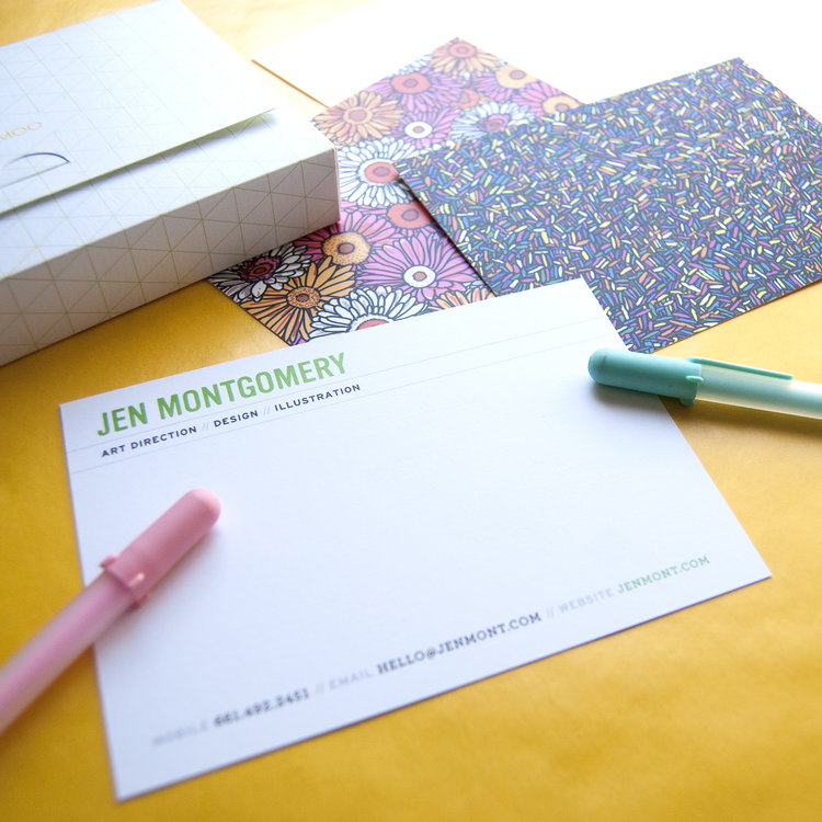 New Business Cards and Notecards from Moo — Jen Montgomery Art ...