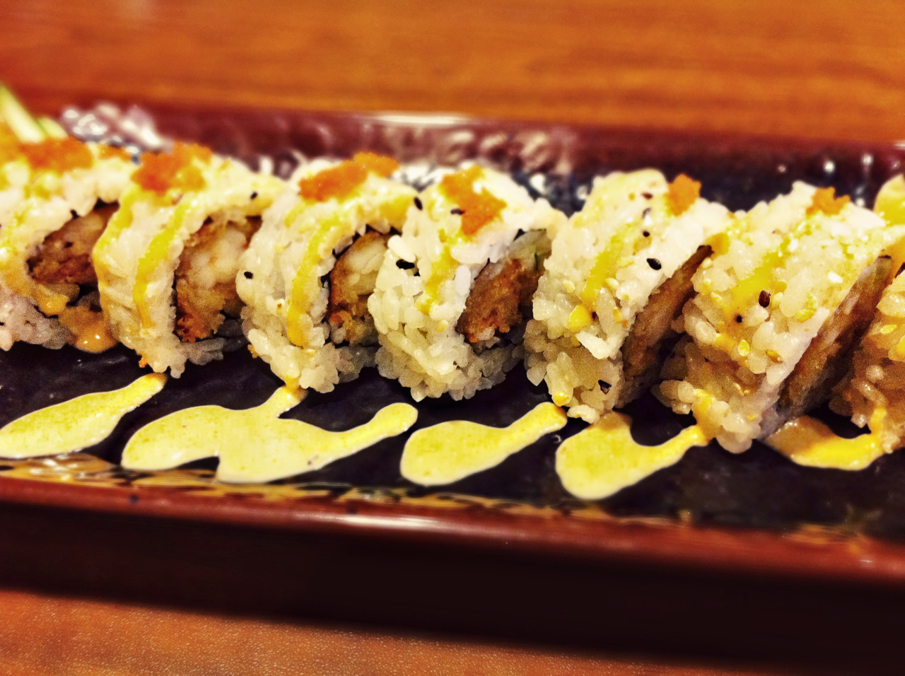 The shrimp tempura roll was a lunch special today. So I ate it. Mmm…