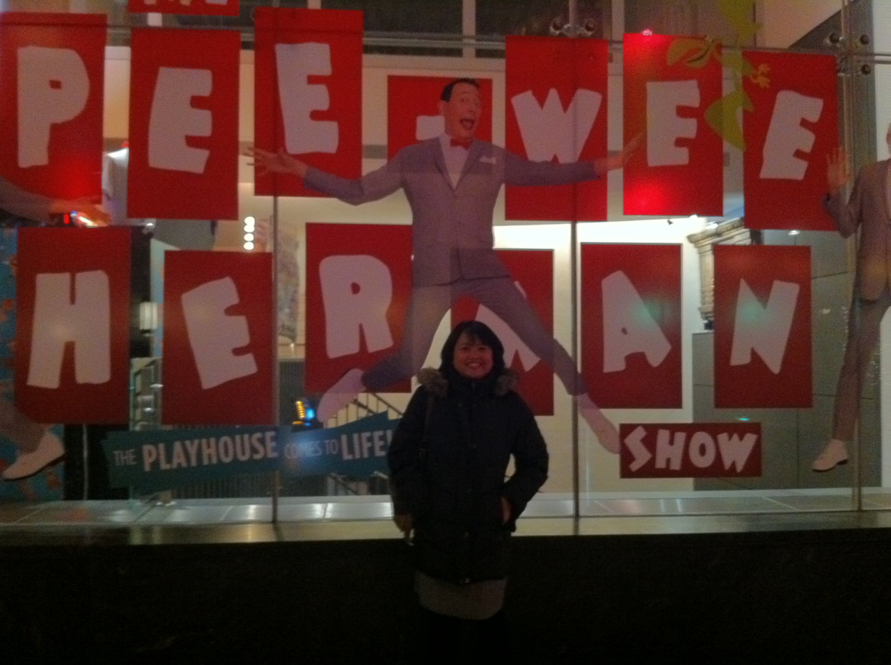 Going to see Pee-Wee Herman at the Stephen Sondheim Theatre.