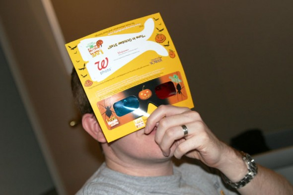 Walgreens had free 3D glasses, which were perfect for Brandon, who's been working on making 3D photographs.