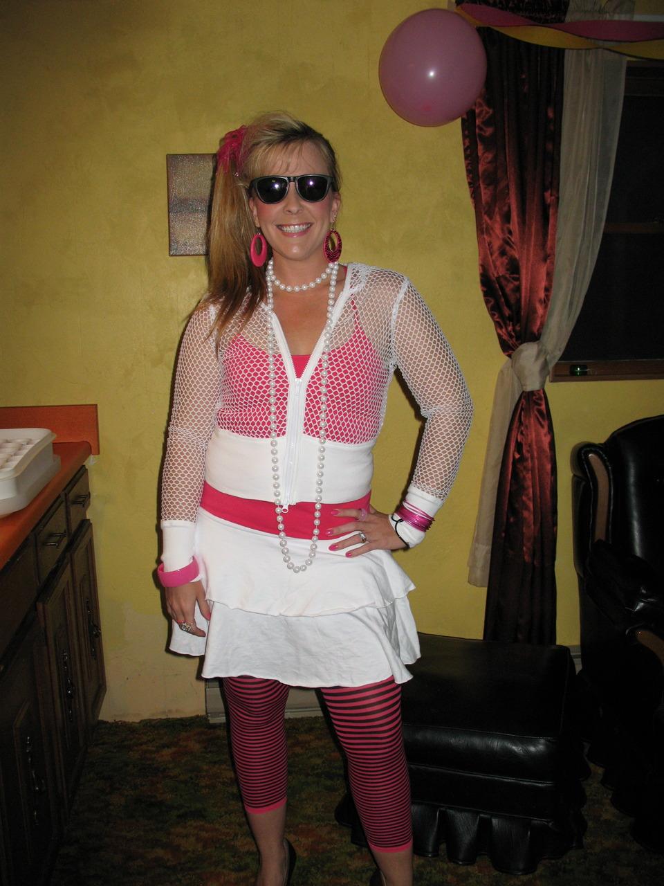 My best friend Erin celebrates her birthday looking '80s fresh.