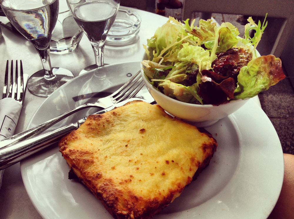 Croque Monsieur avec Salade Verte