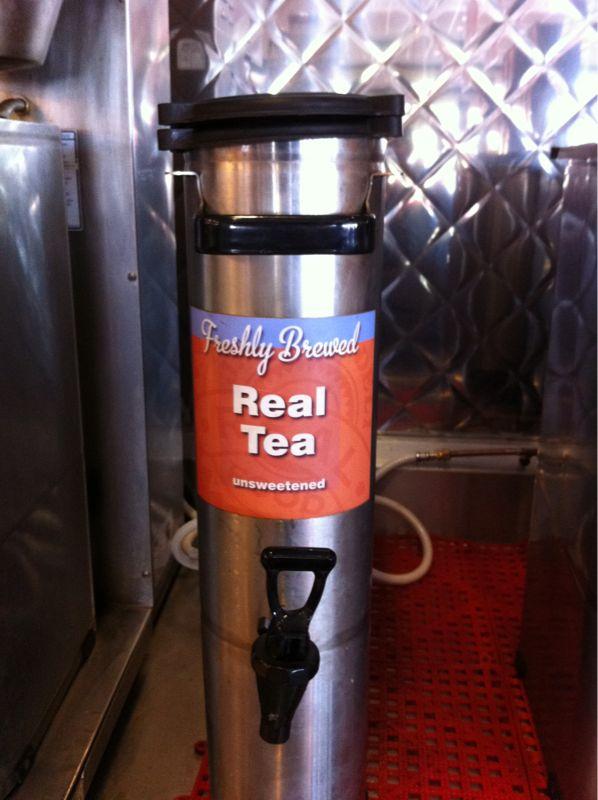 As opposed to fake tea?