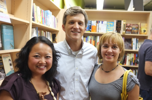 Me and Melanie with author Michael Knight at Union Avenue Books.