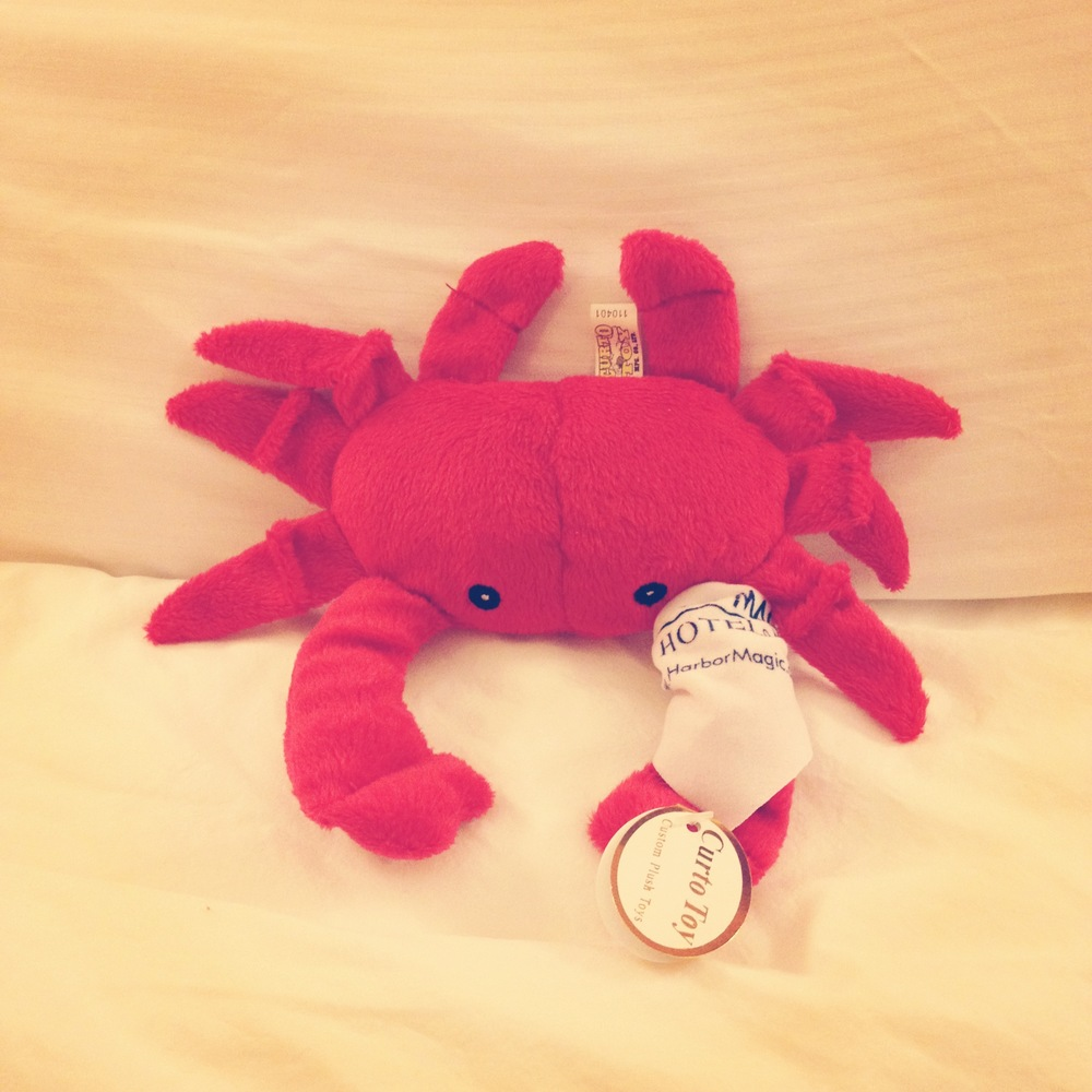 A crabby little gift from the hotel.