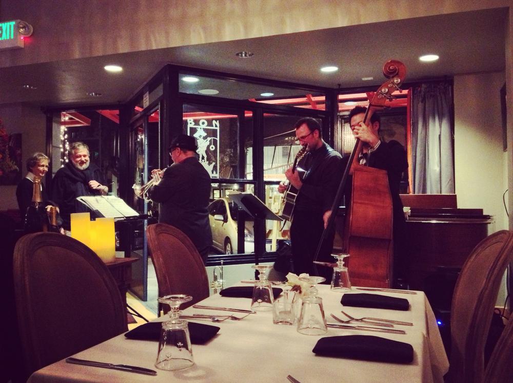 The jazz trio at Bon Vivant