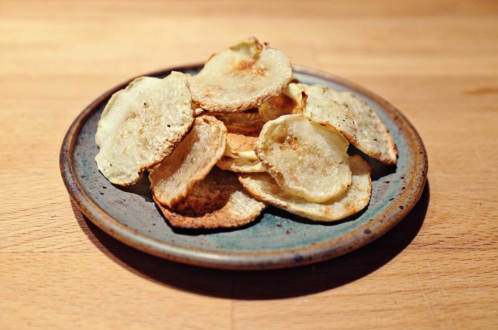 Kohlrabi Greens Chips Kohlrabi Chips