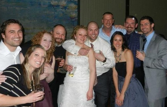 Some of us at our neighbors Matt and Liz's wedding last year