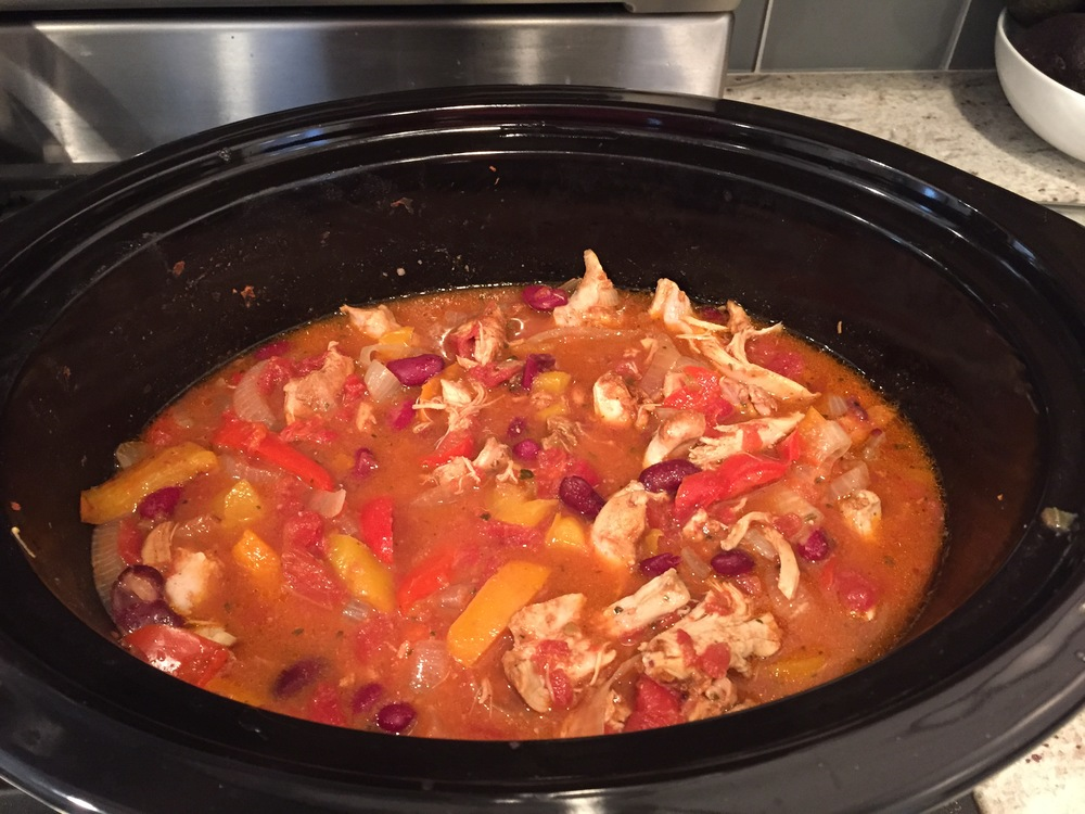 crockpot chicken fajita bowls