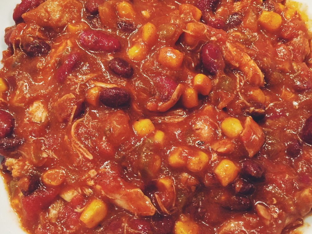 crockpot Mexican chicken chili