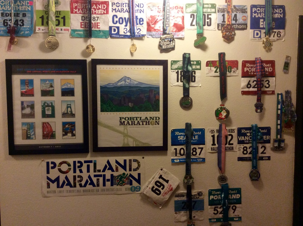 My Marathon Wall. 5 down and counting