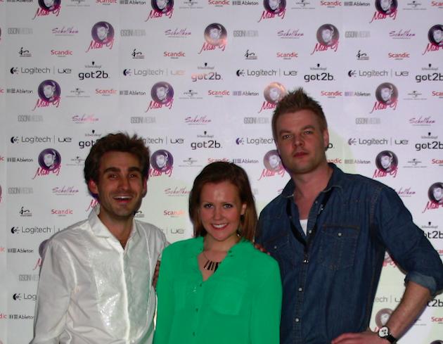 Miss DJ executive producer  Mark Schellhas , with winner  Sanna Nevalainen (Sain D'esprit)  & executive producer  Tomas Gunnarsson