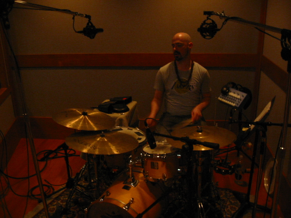 Aaron in a Drum booth