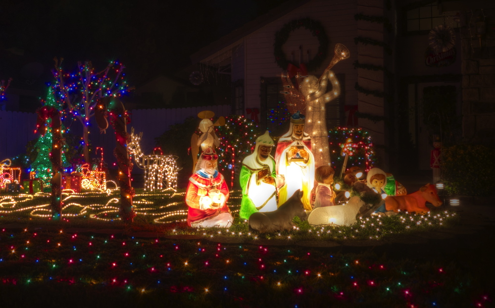 Traditional nativity at candy cane lane skyfire x photography