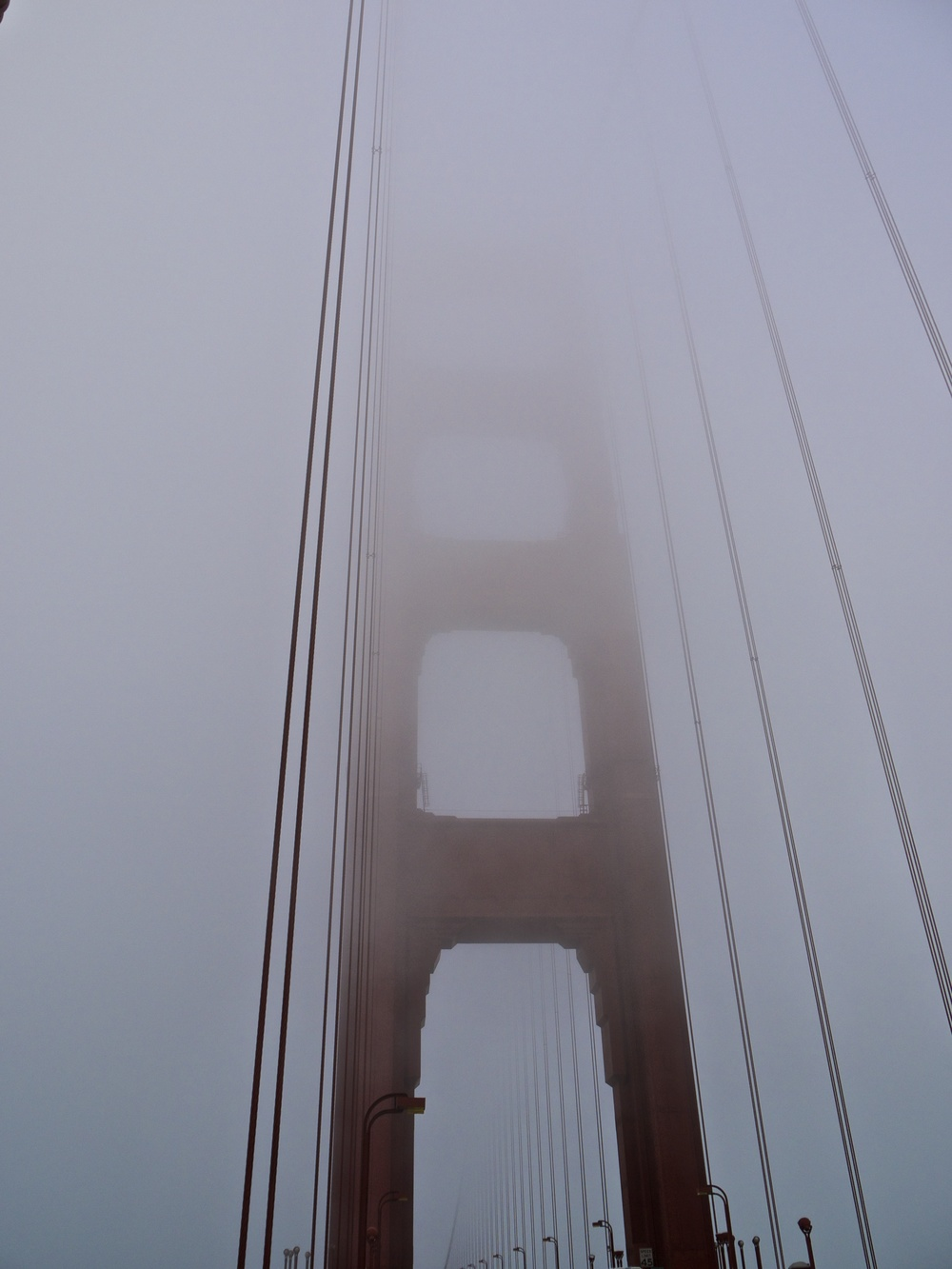 North Tower Shrouded In Fog
