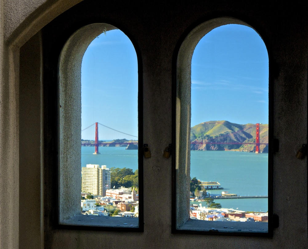 Inside Coit Tower
