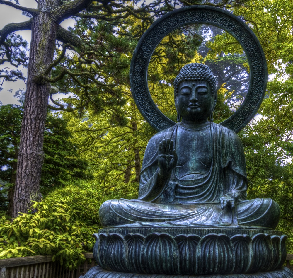 Buddha Statue in the Japanese Tea Garden.