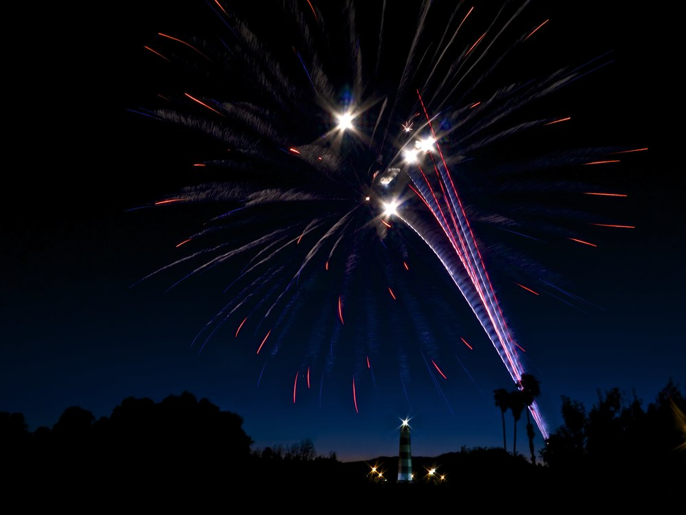 "Fireworks displays truly bring to life the words of ""Star Spangled Banner"" 14mm, f/22, ISO 160, 3.0s"