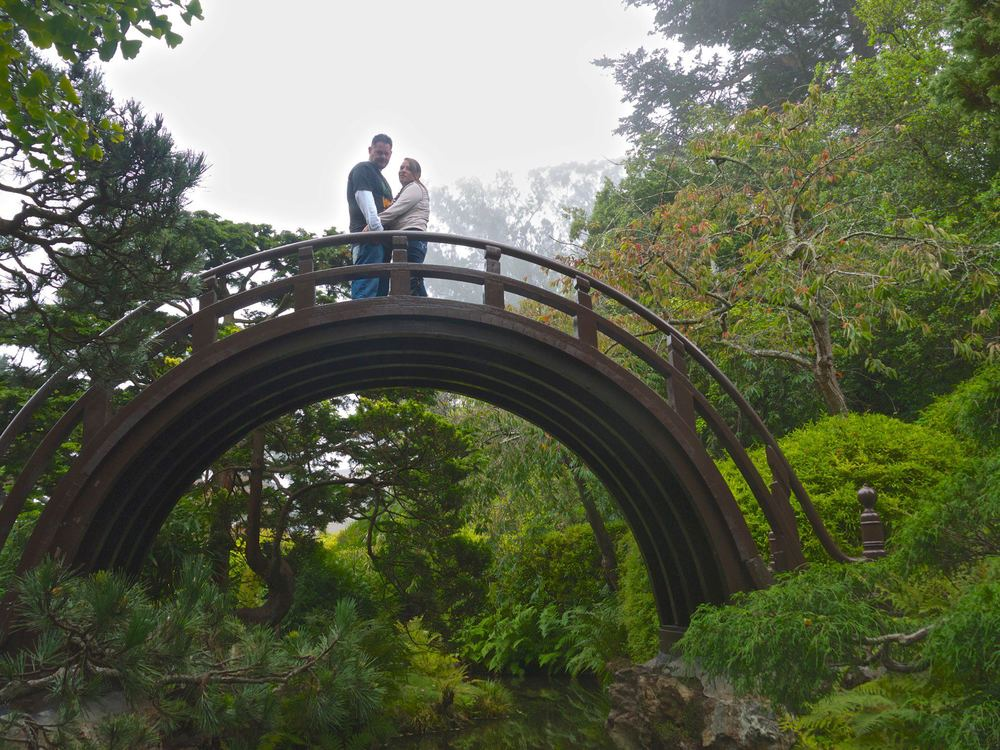 Katie & Matt at the Japanese Tea Garden in Golden Gate Park
