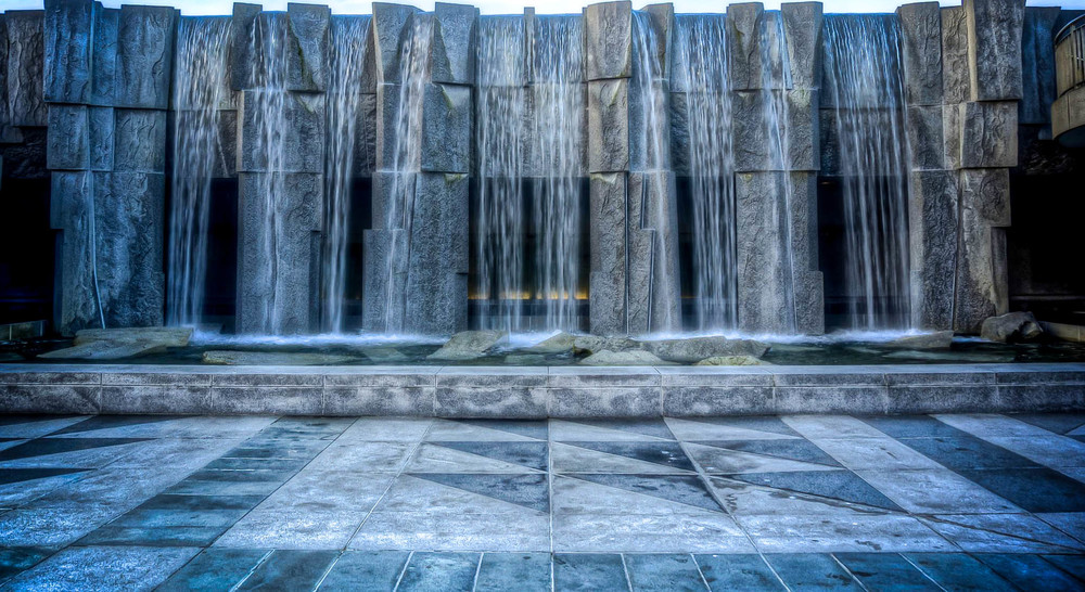 Martin Luther King Jr Memorial Waterfall in Yerba Buena Gardens