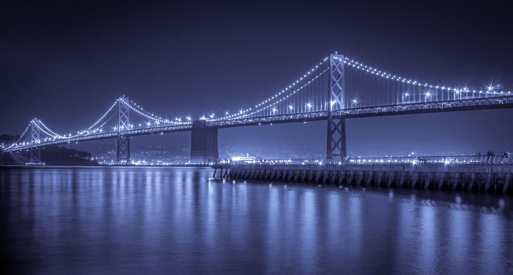 Electric Blue Bay Bridge
