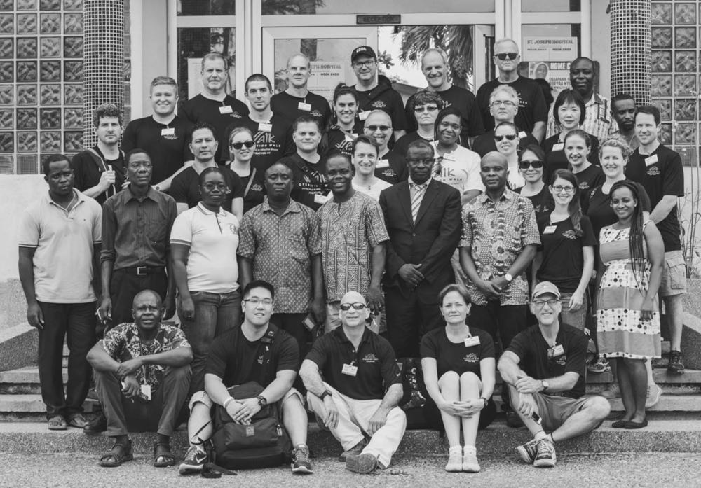 The 2016 team in front of St. Joseph's Hospital in Koforidua, Ghana