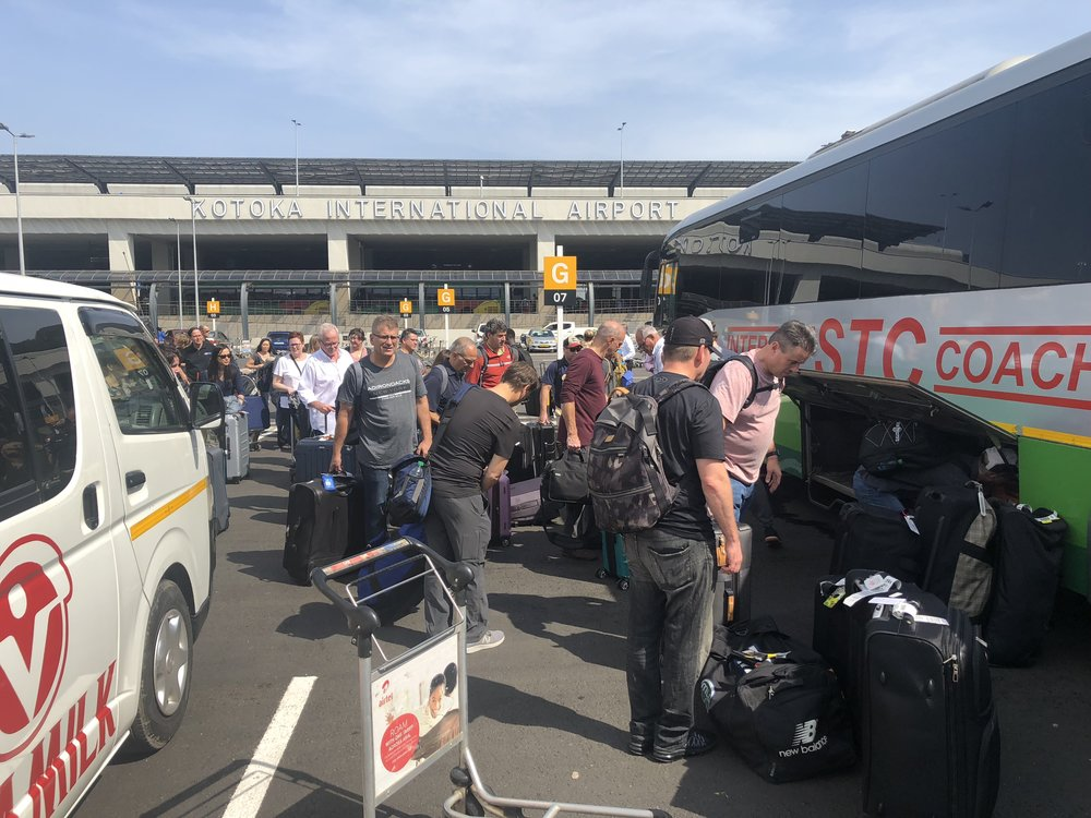 OPERATION WALK 2018 GHANA- BUS ARRIVES WITH TEAM