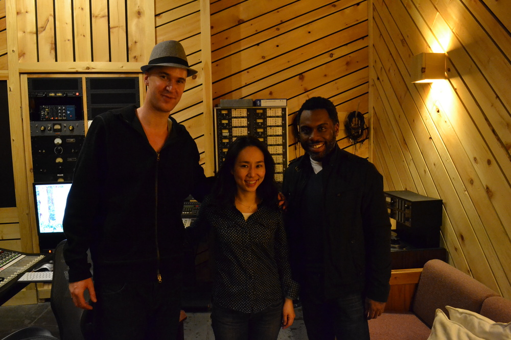 At Bunker Studio with Nate Smith and Mamiko Kitaura