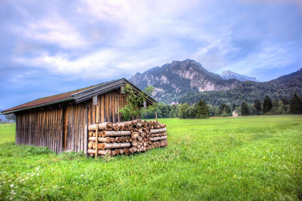 A field in Füssen, Germany