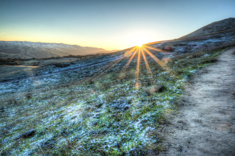 HDR photo, Mission Peak California at sunrise