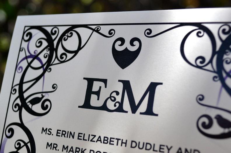 Erin and Mark Wedding Invitation