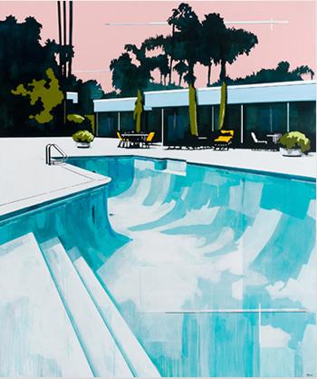 Paul Davies Peach Sky, Empty Pool