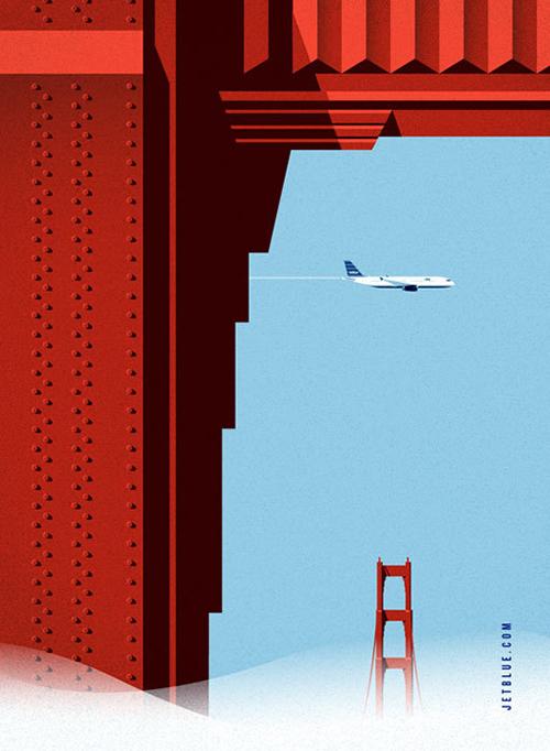 Jet Blue Illustration