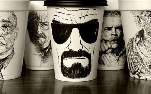 Coffee cup illustrations - Cheeming Boey