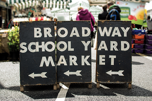 Broadway Market sign
